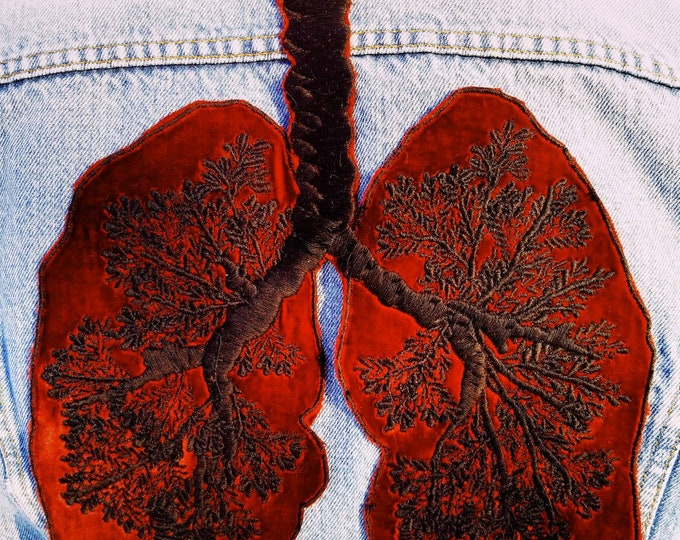Embroidered Silk Velvet Lungs