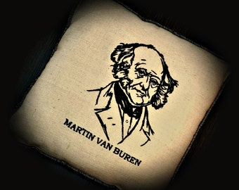 President Embroidered Martin Van Buren Pillow