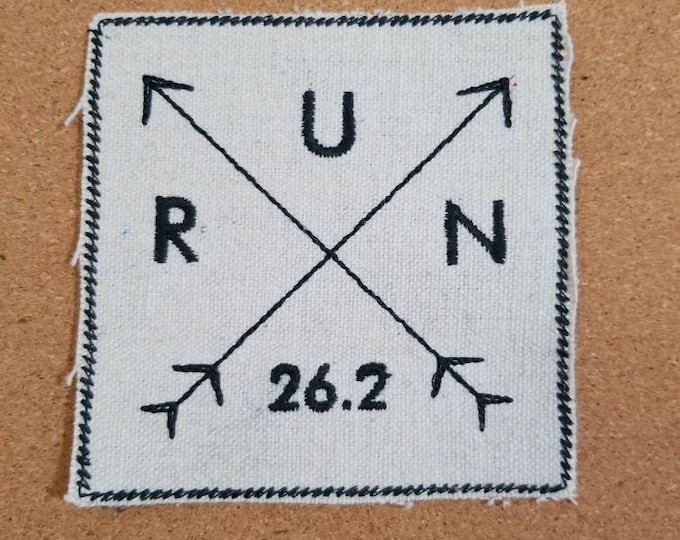 Embroidered Running Marathon Iron On Patch