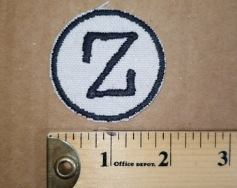 Embroidered Z Monogram Iron On Badge Patch