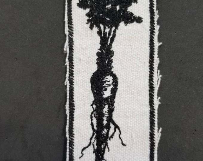 Iron On Embroidered Carrot Patch.