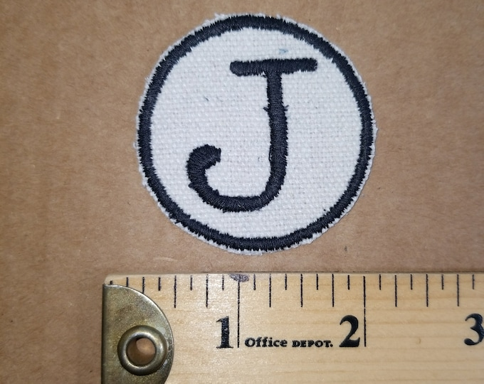 Embroidered Monogram Patch J