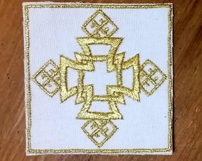 HandmadeEmbroidered Ethiopian Cross Patch