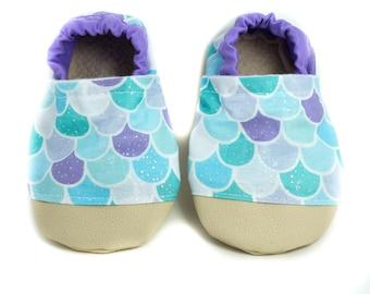 46f1b908a NON-SLIP Mermaid Glitter Baby Shoes