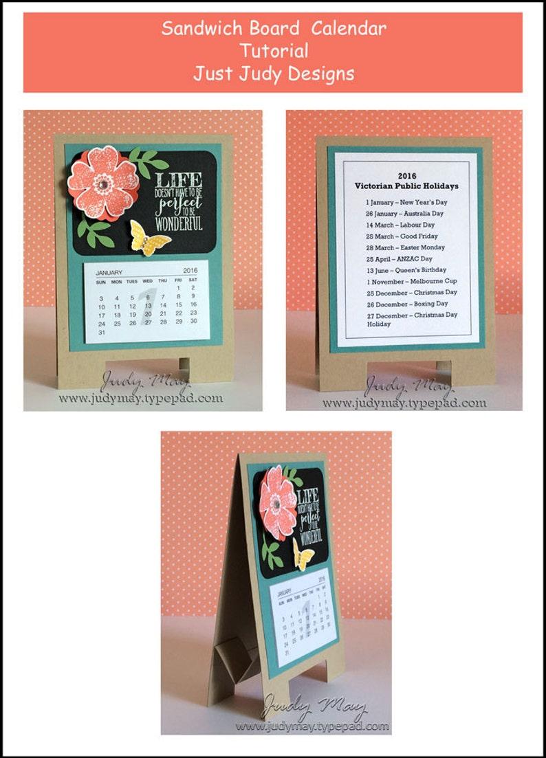 Craft Tutorial  Sandwich Board Calendar image 0