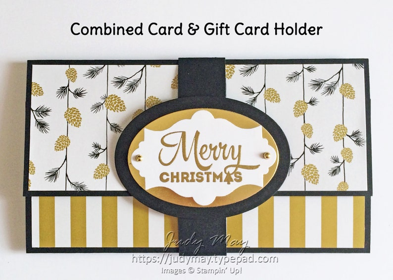 Craft Tutorial  Combined Card & Gift Card Holder image 0