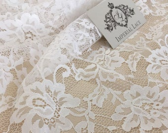 bb5e1189bb5bcf Off white lace fabric, chantilly lace fabric, white lace fabric B00195