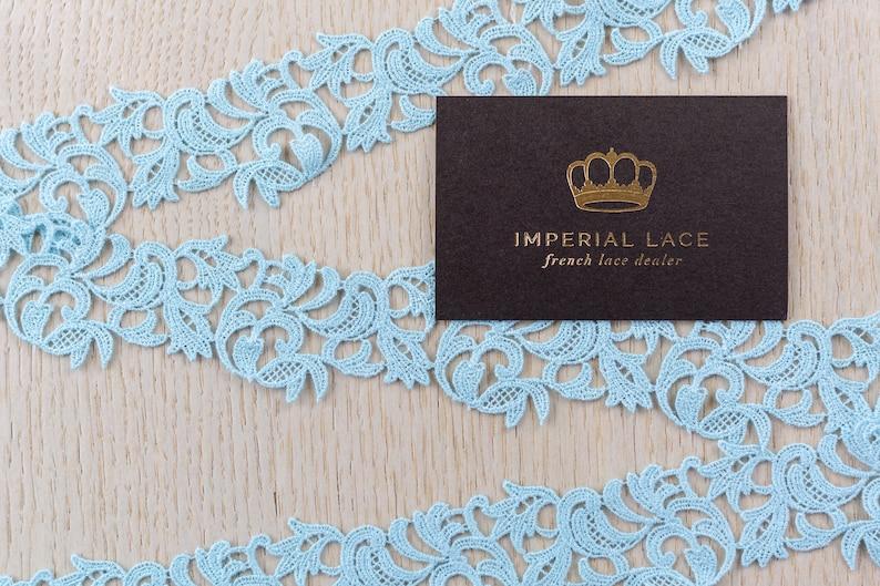 Blue lace fabric Chantilly Lace French Lace Blue lace trim Scalloped lace Eyelash lace Floral Lace  MK00523 Bridal lace Wedding Lace