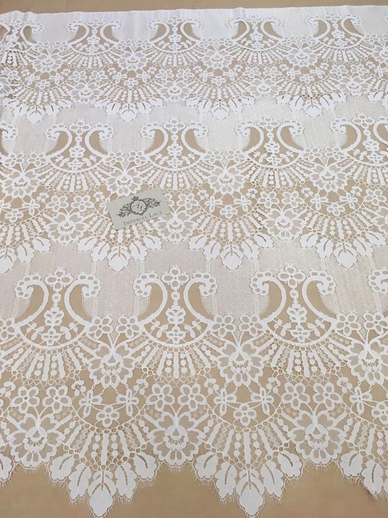 French Lace spitzenstoff soft Chantilly Lace Ivory lace fabric white Lace B00201 chantilly lace Wedding Lace
