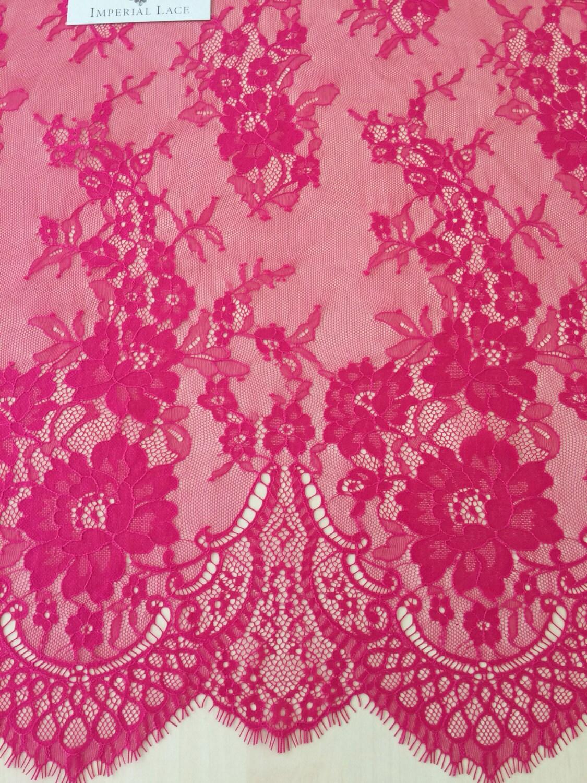 Fuchsia Pink lace fabric Wedding lace lingerie lace   Etsy