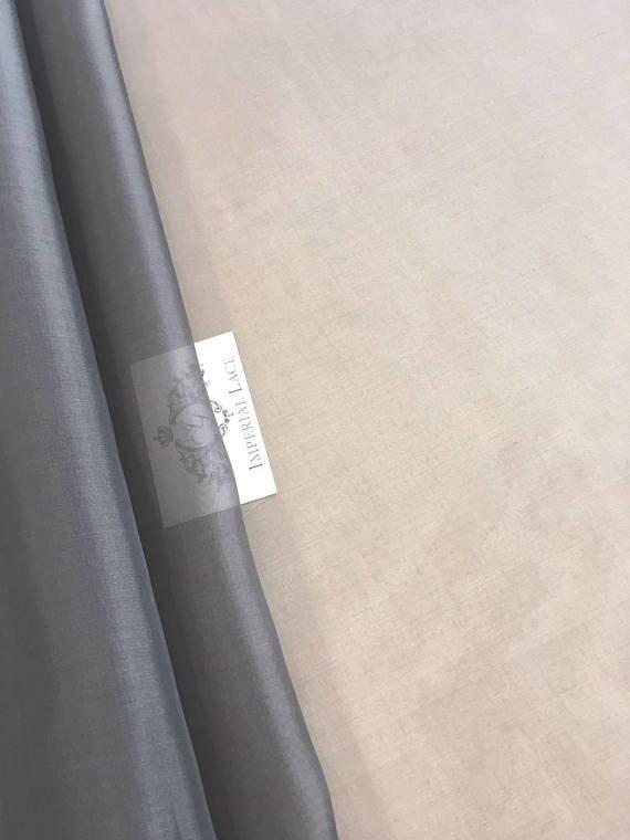 tissu 100 % pure soie, couleur grise organza de satin de organza soie, organza de soie tissu, tissu de soie, organza satin de soie, organza, organza gris Z00122 606fc0