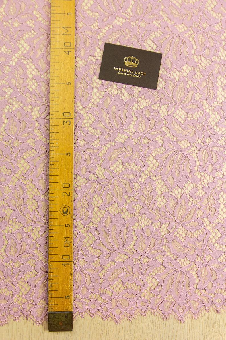 Lace fabric scalloped lace fabric boho lace fabric Fabric By the Yard K01029 alencon lace fabric bridal lace fabric Pink lace fabric
