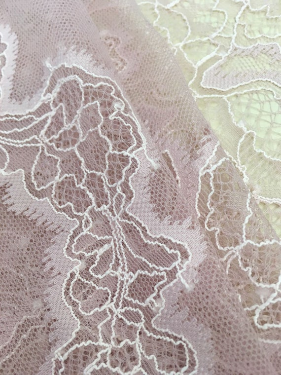 Orange lace fabric Embroidered lace French Lace Wedding Lace Bridal lace Orange Lace Veil lace Lingerie Lace Alencon Lace K000061