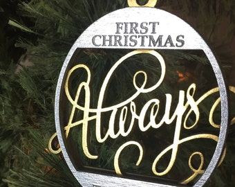 Always   First Christmas Together   Christmas Tree Ornament   Free Gift Box