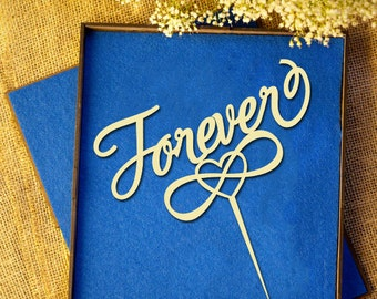 Forever (with infinity symbol)  Wedding Cake Topper