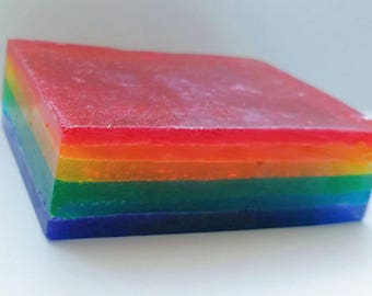 Rainbow bubblegum scented soap bar