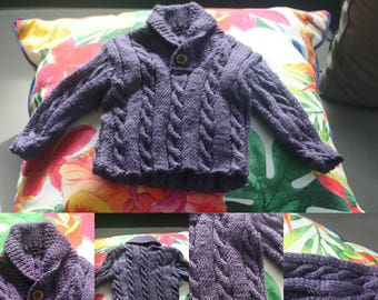 Bespoke Hand Knitted Cable Jumper - Baby - Newborn to 12 Months - Made to Order