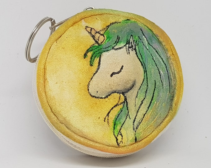 Coin purse, coin holder, key holder, key purse, personalized coin purse, unicorn gift theme, gift idea