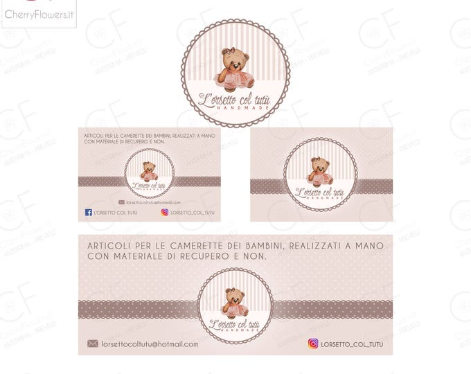 Custom Logo SET Design-business card graphics-Facebook cover Banner