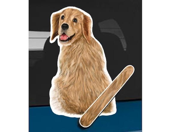 golden retriever hund heckscheibe wischer erhobenen schwanz etsy. Black Bedroom Furniture Sets. Home Design Ideas
