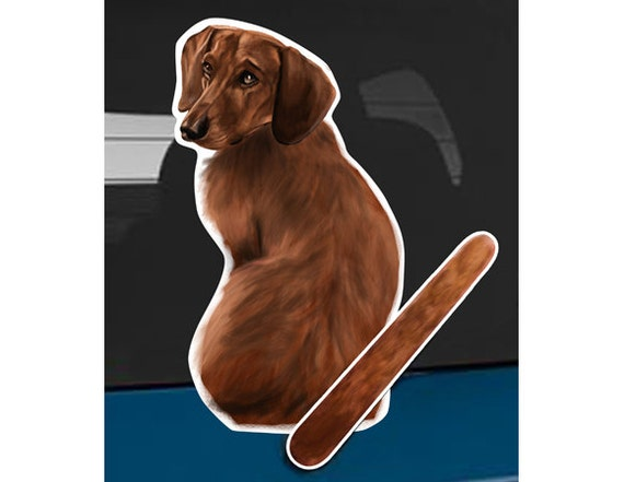 DACHSHUND DOG LOVER NOVELTY WIPER GIFT COLLECTABLE FOR CAR REAR WINDSCREEN WIPER