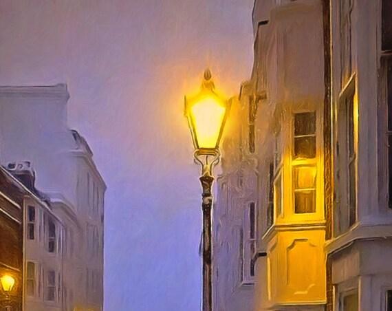 Snowy Street Serenity