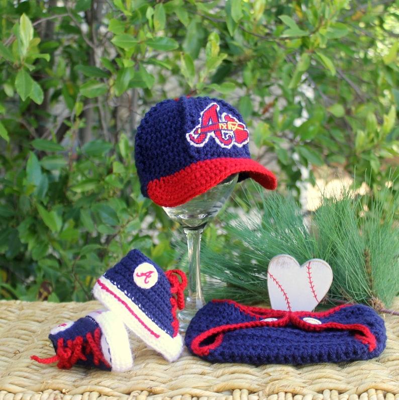 3fabfb9ec Braves Baby, Atlanta Braves Baby Boy, Atlanta Braves Baby Girl, Braves Baby  Shoes, Braves Baby Hat