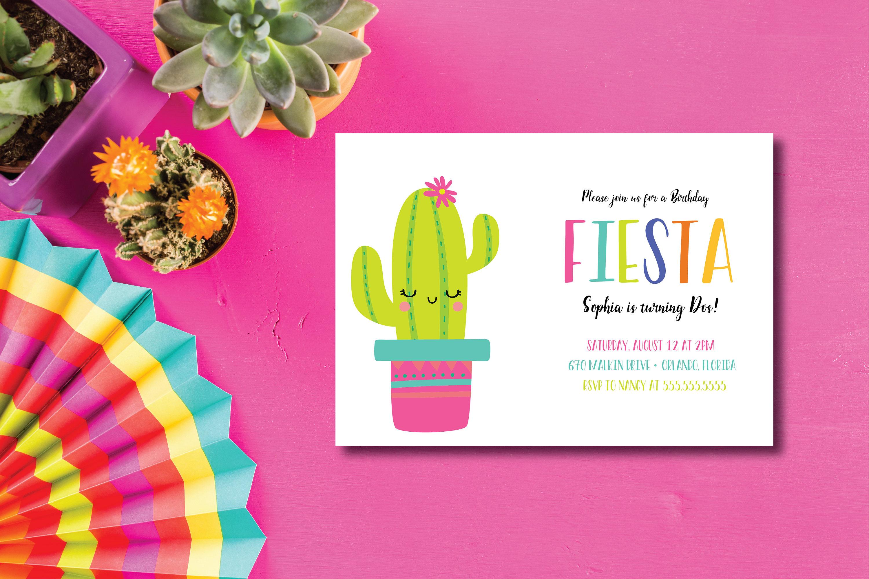 Invitación fiesta Cactus feliz cumpleaños Fiesta DIY para