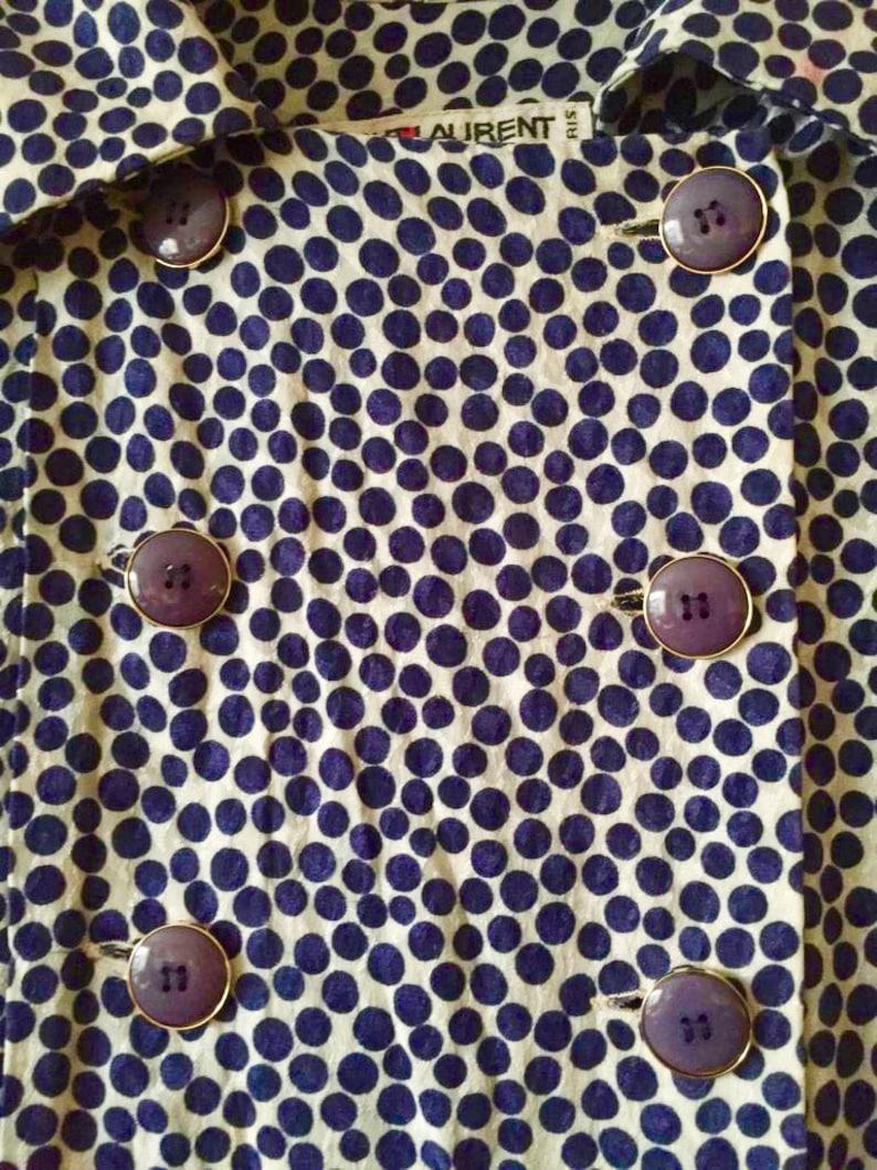 03c344705ee Reserved. Do Not Buy. YSL rive gauche rare silk dresstrench | Etsy
