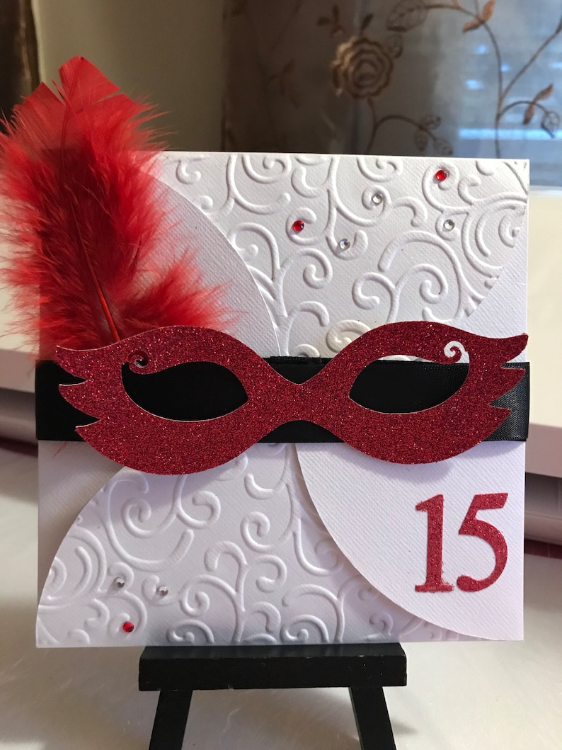 Masquerade Invitations For Quinceanera Sweet 16 Birthday Party Or Wedding