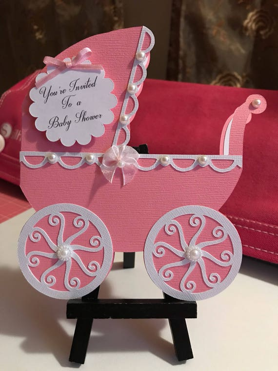 baby carriage invitations for baby shower etsy