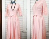 50s Pink Dress, Size Small, Vintage Pink Dress, Blush Dress, 50s Blush Dress, 50s Size Small Dress, Vintage Blush Dress, 60s Wiggle Dress