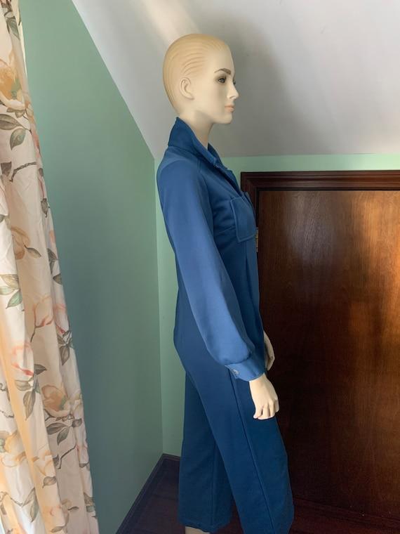 70s Blue Jumpsuit, 70s Size Medium Jumpsuit, 70s … - image 8
