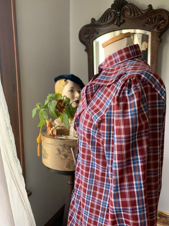 Plaid Prairie Blouse, Vintage Plaid Prairie Shirt… - image 10