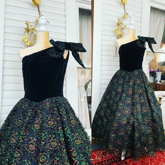 80s Dress, 80s Does 50s Dress, Winter Formal Dress