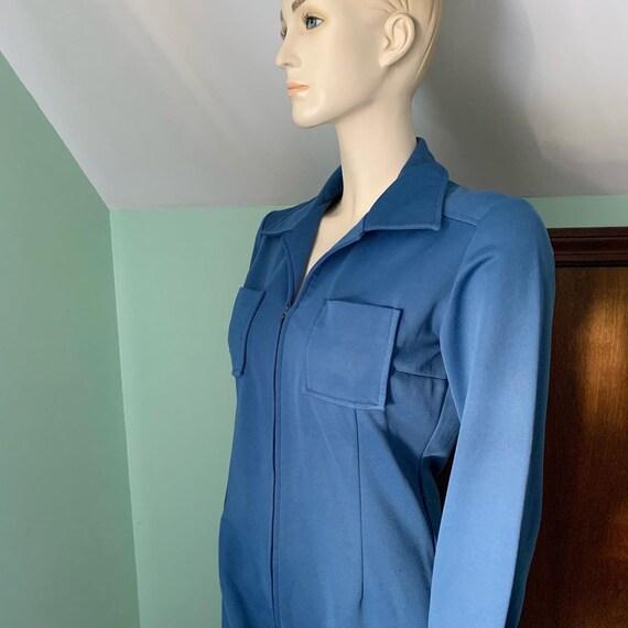 70s Blue Jumpsuit, 70s Size Medium Jumpsuit, 70s … - image 10