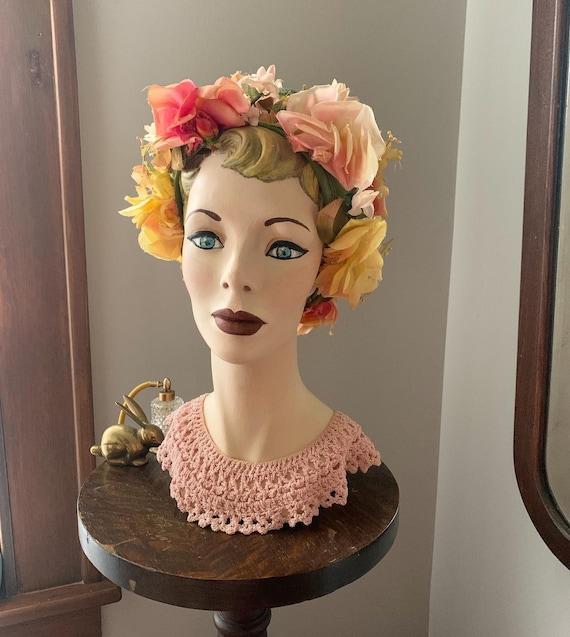 Vintage Christian Dior Flower Chapeau, Vintage Des