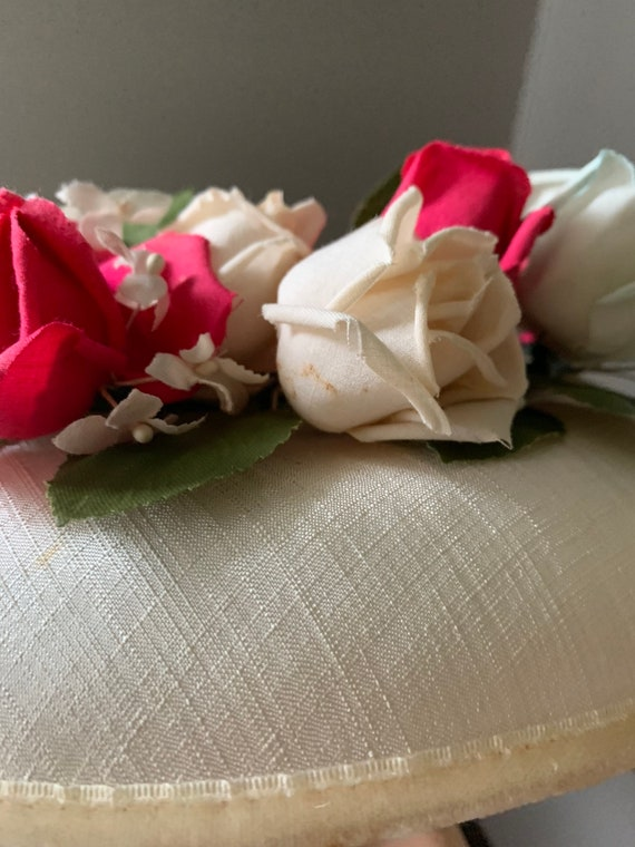50s Rose Hat, Vintage Hat With Roses, 50s Flower … - image 7