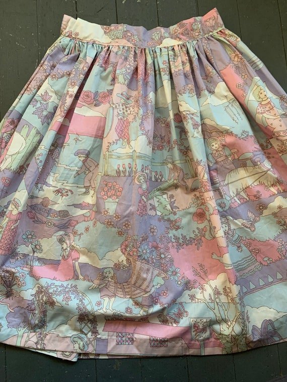 Vintage Novelty Psychedelic Skirt, Vintage Zodiac… - image 8