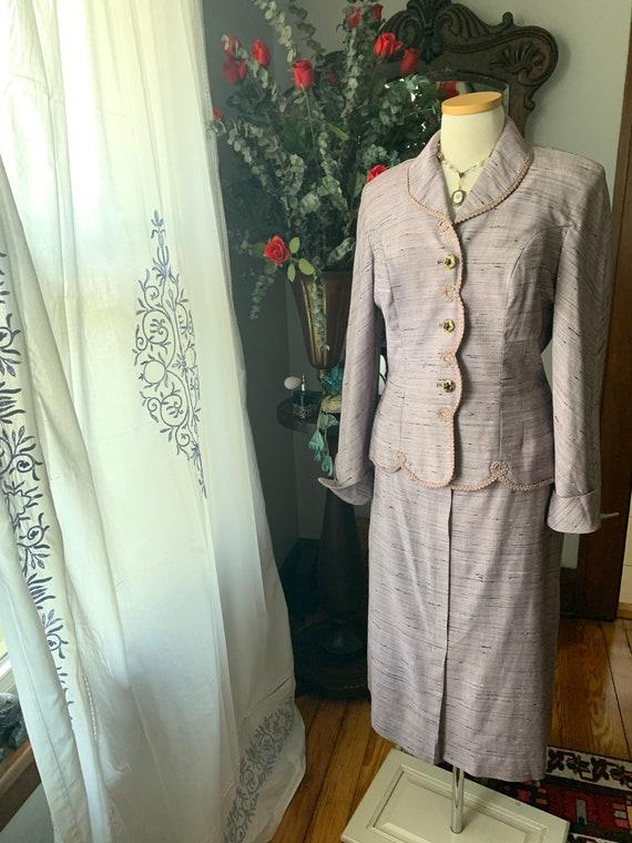 40s Purple Dress Suit, 50s Purple Dress Suit, Vint