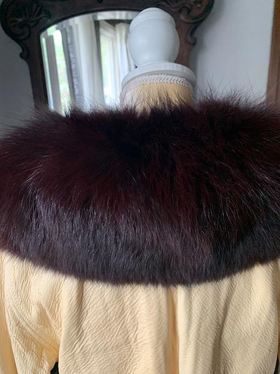 Vintage Lilli Ann Fox Fur Collar Trench, 60s Lill… - image 8