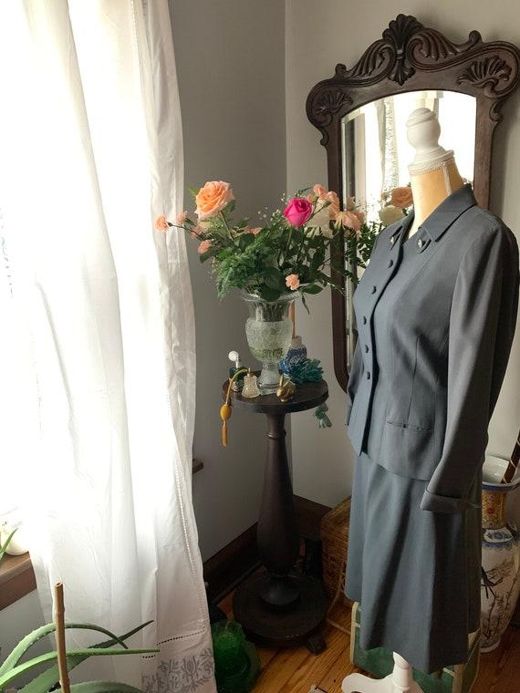 40s Grey Suit, Rothmoor Dress Suit, Vintage Slate… - image 7