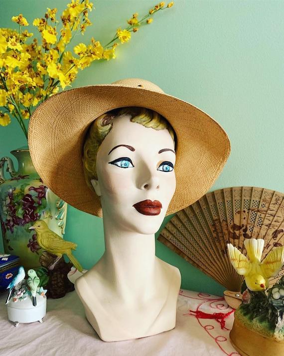 50s Straw Hat, 40s Straw Hat, Vegetable Straw Hat… - image 7