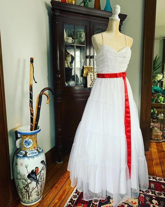 Vintage White Wedding Dress, Vintage Bridal Dress,