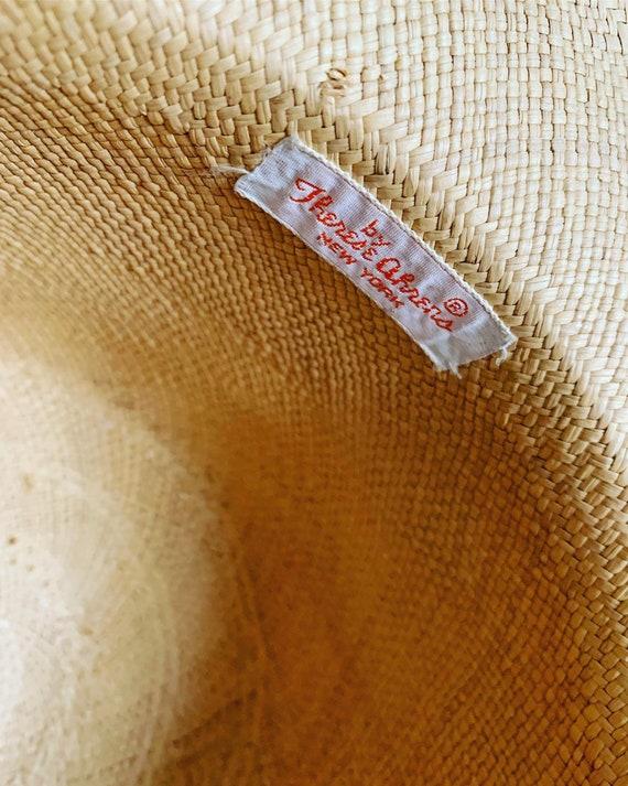 50s Straw Hat, 40s Straw Hat, Vegetable Straw Hat… - image 10