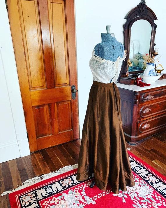 Victorian Wool Skirt, Edwardian Wool Skirt, Antiqu