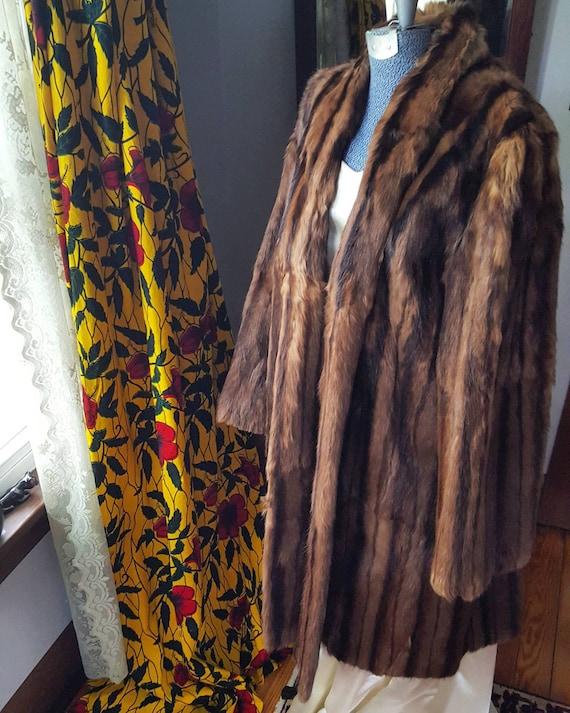 Larg Coat Mink Vintage Fur 1940s Coat Coat Fur Medium Swing Sale 50s Vintage Sable Vintage Coat Striated Russian to 40s Mink Size Mink Tw7WAqzAO