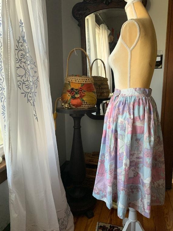 Vintage Novelty Psychedelic Skirt, Vintage Zodiac… - image 5