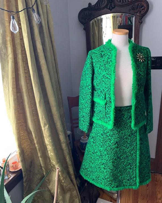 50s Suit, Green 50s Dress Suit, 60s Green Dress Su