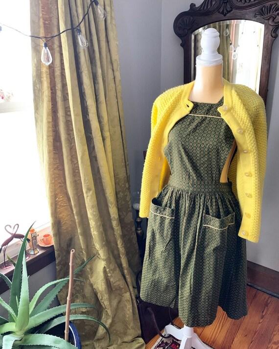 50s Pinafore, 1950s Pinafore Dress, Vintage Pinafo
